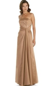 Alexia Designs Bronze Matte Satin Style 2406 Formal Bridesmaid/Mob Dress Size 10 (M)