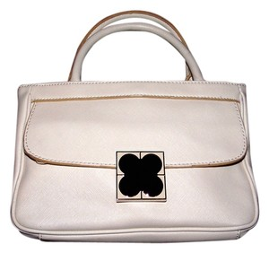 Liz Claiborne Office Career Casual Evening Simple Statement Satchel in Biege