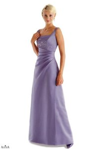 Alexia Designs Victorian Lilac Matte Satin Style 1602 Formal Bridesmaid/Mob Dress Size 8 (M)