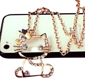 Hello Kitty HELLO KITTY BOW HOLLOW GP NECKLACE