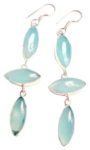 Hand-Made Chalcedony 925 STerling Silver Earrings