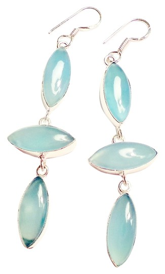 Other Hand-Made Chalcedony 925 STerling Silver Earrings