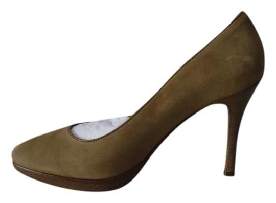 Ann Taylor New With Tags Suede Work Caramel Pumps