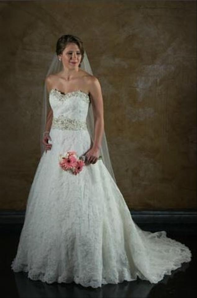 Mori Lee Style 1913 Alencon Lace Trimmed With Intricately Beaded Embroidery Wedding Dress
