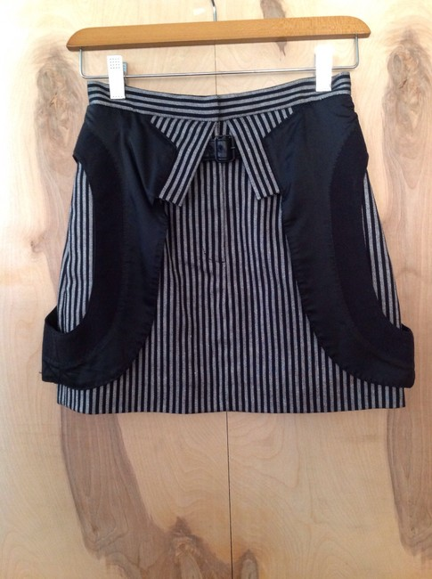 Alexander Wang Mini Skirt Black & white pinstripe