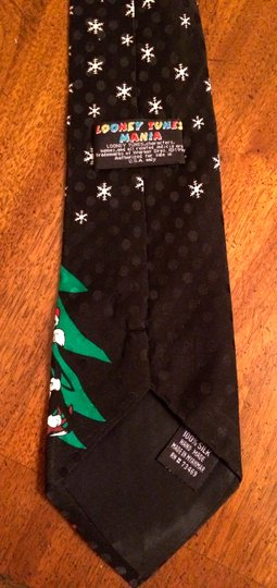Other Looney Tune black silk Xmas tie