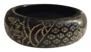 Other Lucite Acrylic & Cloth Gold Thread Bangle