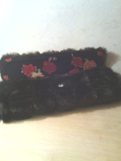 Tracey Vest Retro Sexy Faux Fur Brown Ranch Mink Clutch