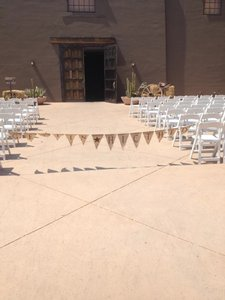 Tan Burlap Gettin' Hitched Banner 11ft Ceremony Decoration