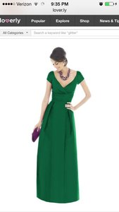 Alfred Sung Pine Green D503 Formal Bridesmaid/Mob Dress Size 6 (S)