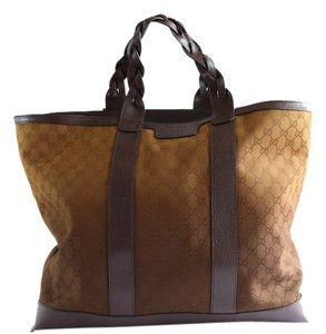 Gucci Men's Travel Tote in Brown
