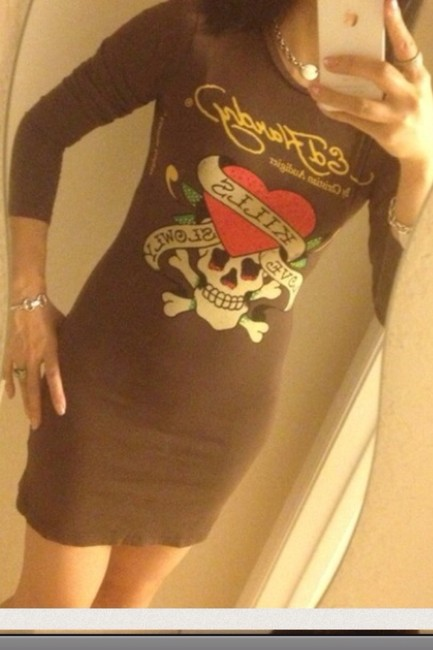 Ed Hardy short dress on Tradesy