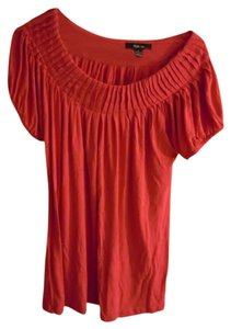 Style & Co Ruched Neckline T Shirt Coral pink