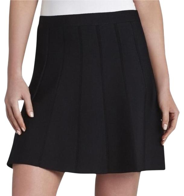 Preload https://item2.tradesy.com/images/bcbgmaxazria-black-flared-paneled-sweater-miniskirt-size-2-xs-26-5375101-0-2.jpg?width=400&height=650