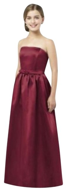 After Six Satin Burgundy Dress