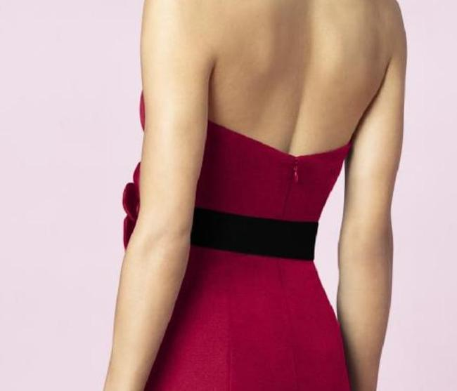 After Six Cocktail Length Strapless Satin Dress