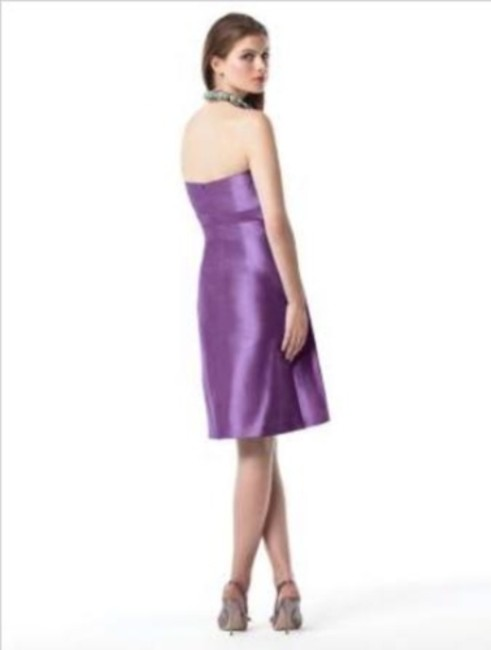 Dessy Cocktail Length Strapless Silk Shantung Dress