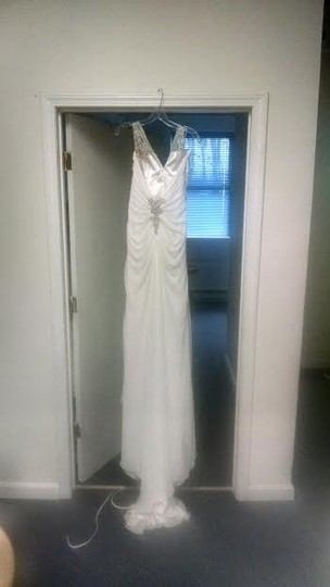 Maggie Sottero White Chiffon Reese Destination Wedding Dress Size 16 (XL, Plus 0x)