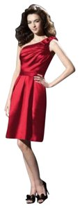 Dessy One Knee Length Satin Dress