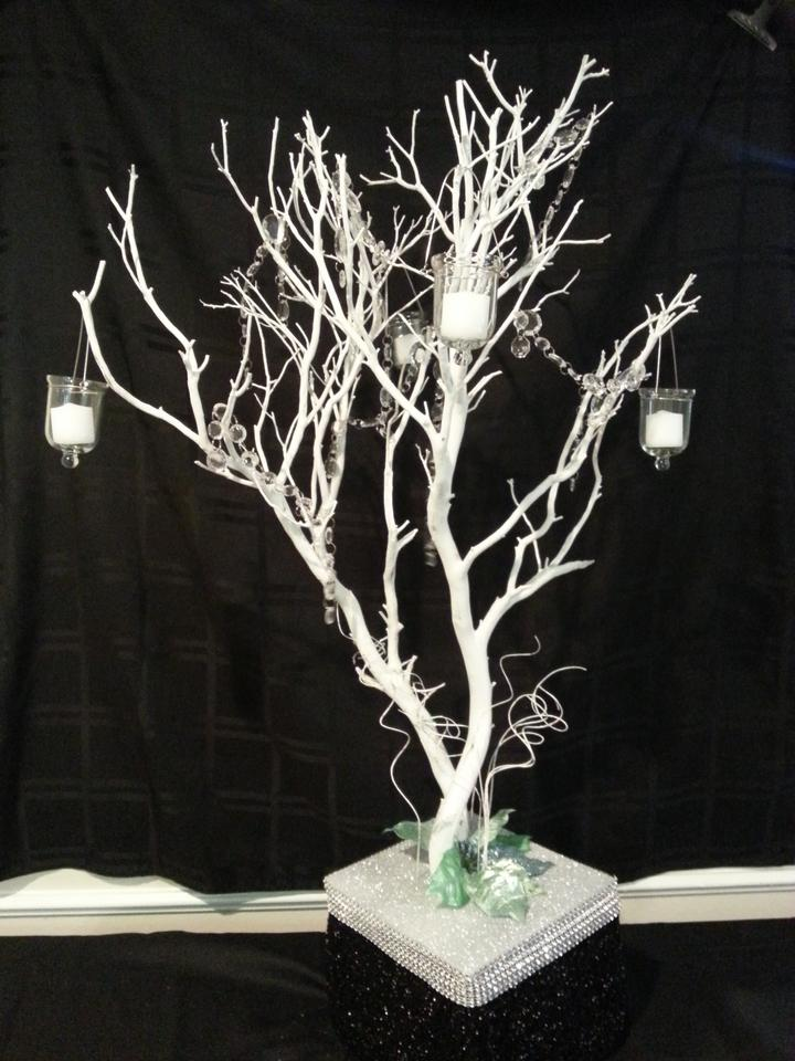 White manzanita tree centerpieces small large