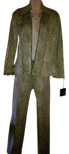 SIGNE SIGNE FROM PARIS FAUX SNAKE PRINT PANT SUIT..STRIKING