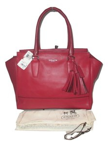 Coach Satchel in Red ( Cherry )