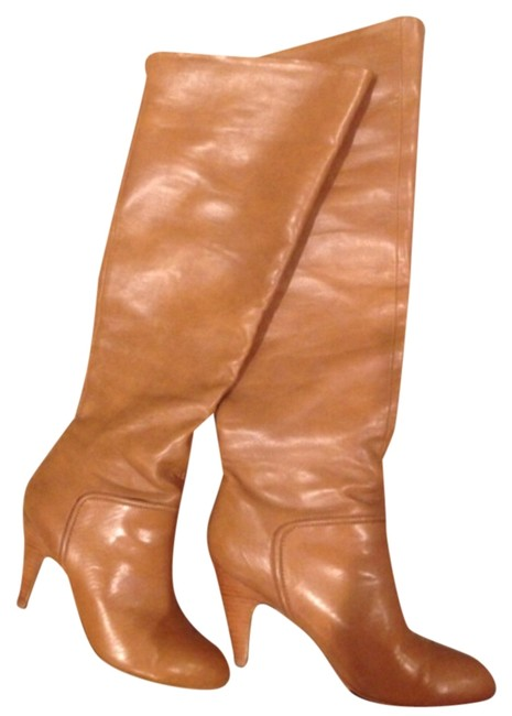 Item - Tan/ Beige/ Neutral Above The Knee Boots/Booties Size US 9 Regular (M, B)