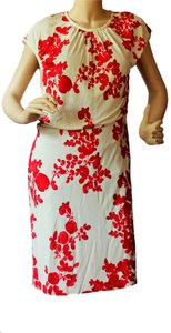 Tory Burch short dress RED PEPPER ISSY BOQUETS/ IVORY on Tradesy