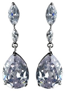 Elegance by Carbonneau Dangling Bridal Teardrop Earrings