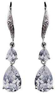 Elegance by Carbonneau Elegance by Carbonneau Clear CZ Dangle Earrings 8631