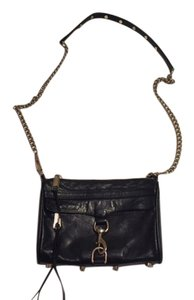 Rebecca Minkoff Mini Mac Leather Gold Cross Body Bag