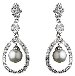Elegance by Carbonneau Elegance by Carbonneau Charming Crystal and Ivory Pearl Earrings 8248