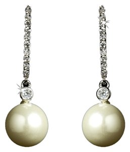 Elegance by Carbonneau Ivory Pearl Bridal Earrings