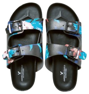 American Eagle Outfitters Black / blue / peach Sandals