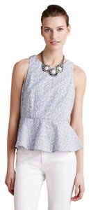 Anthropologie Peplum Flattering Anthro Top sky