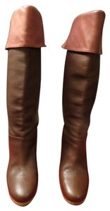 UGG Australia Textured Brown Leather/Suede Boots