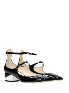 Jimmy Choo Leather Edgy Modern Black and White Pumps