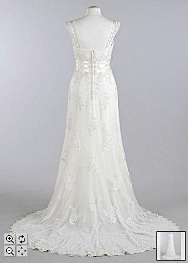 Oleg Cassini Ivory Cv226 Wedding Dress Size 12 (L)