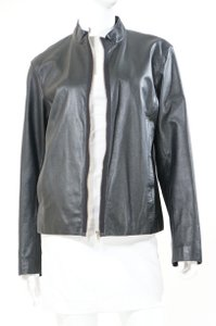 DKNY Moto Donna Karan Leather Black Leather Leather Jacket