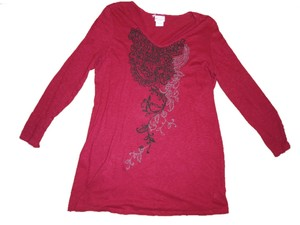 Motherhood Maternity MOTHERHOOD Maroon Red Paisley Print Large Blouse