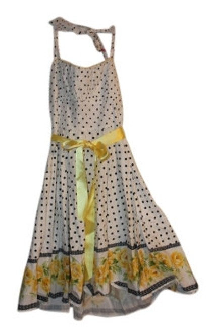 Preload https://item3.tradesy.com/images/white-yellow-dark-navy-green-pokadot-floral-halter-knee-length-short-casual-dress-size-12-l-5382-0-0.jpg?width=400&height=650