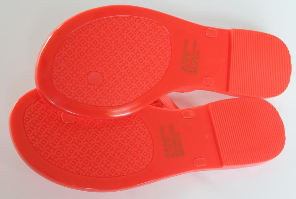 a50d2e87eaf511 Tory Burch Poppy Coral In Box Mini Miller Jelly Thong Flat Flip Flop ...