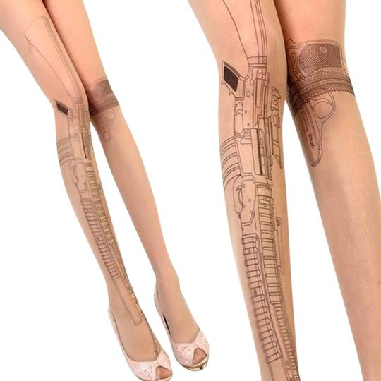 Preload https://img-static.tradesy.com/item/538222/gun-machine-tattoo-stocking-hosiery-0-0-540-540.jpg