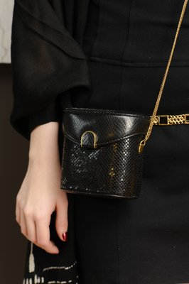 Whiting & Davis Rare Vintage Black Clutch