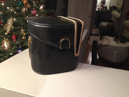 Whiting & Davis And Box Crossbody Black Clutch