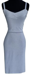 Hervé Leger Spaghetti Strap Bodycon Fitted Dress