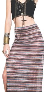 For Love & Lemons Maxi Skirt Multi