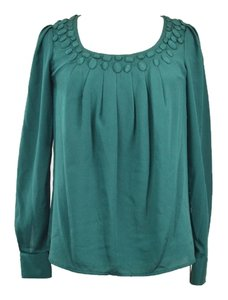 Catherine Malandrino Embellished Longsleeve Top Green/Blue Green/ Teal