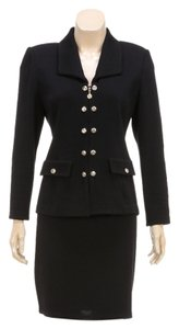 St. John St. John basics Black Knit Jacket and Skirt Suit (Size 4)