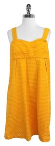 See by Chloé short dress Mustard Yellow Silk Cotton Sleeveless on Tradesy